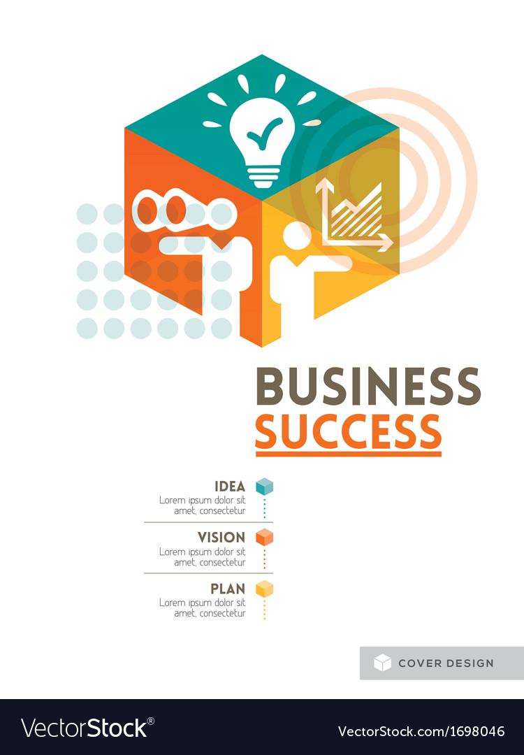 Cubic business success concept design layout vector