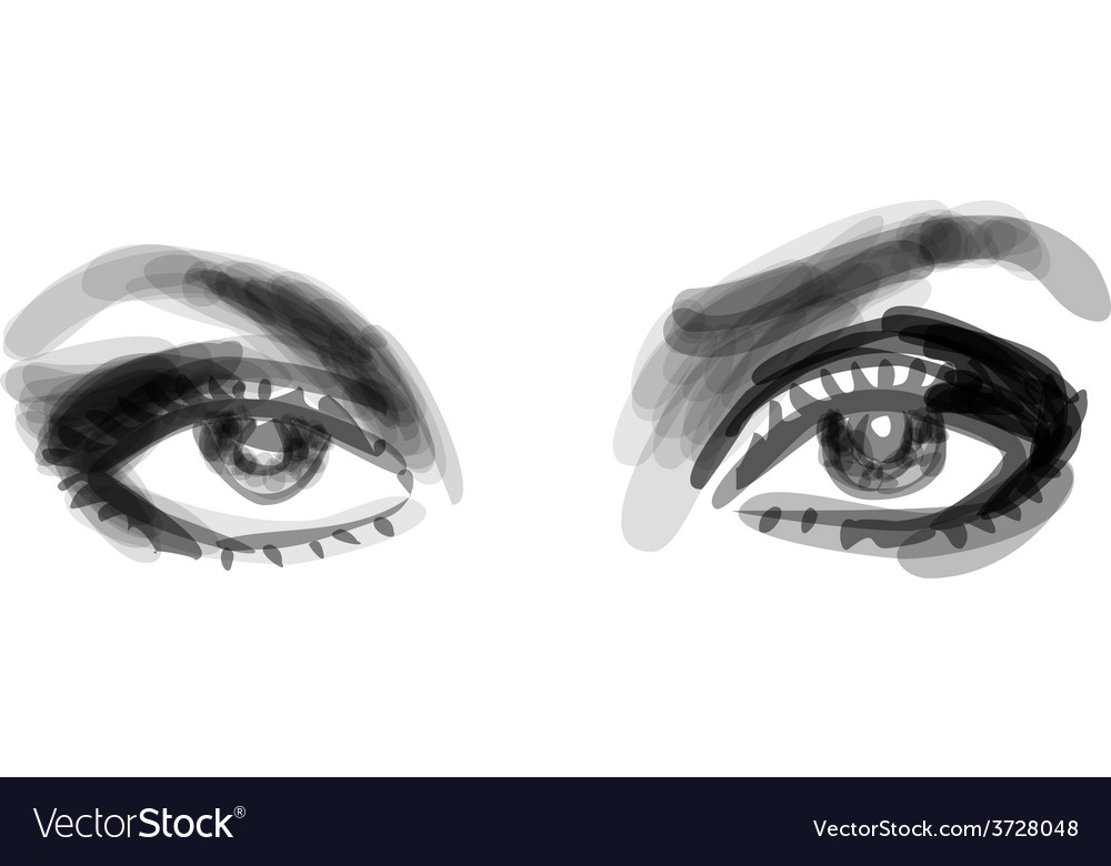 Beautiful woman eyes vector