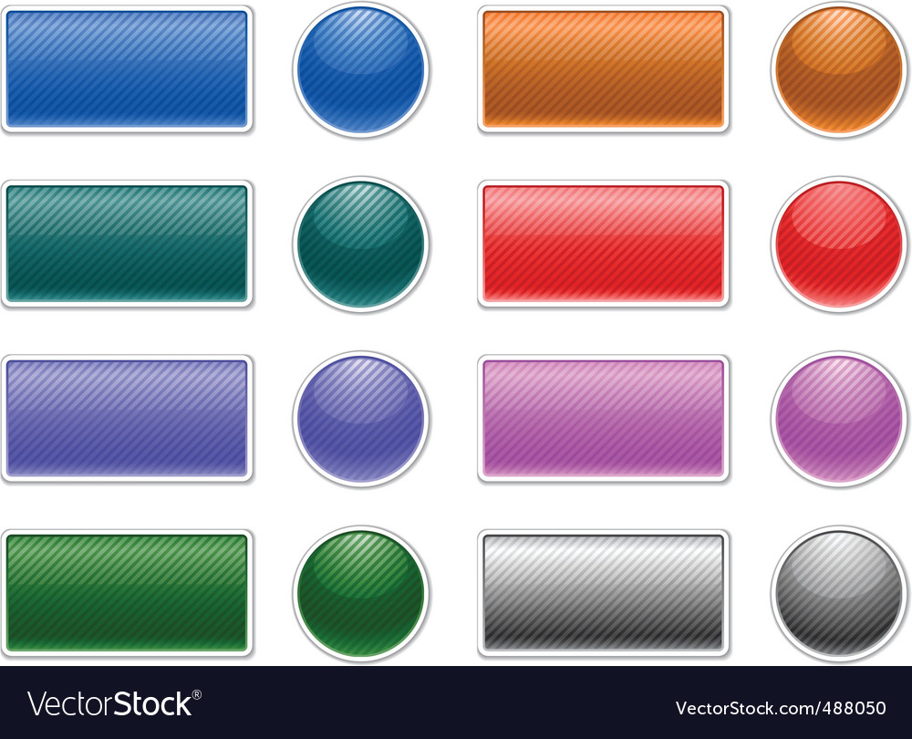 Striped web buttons vector