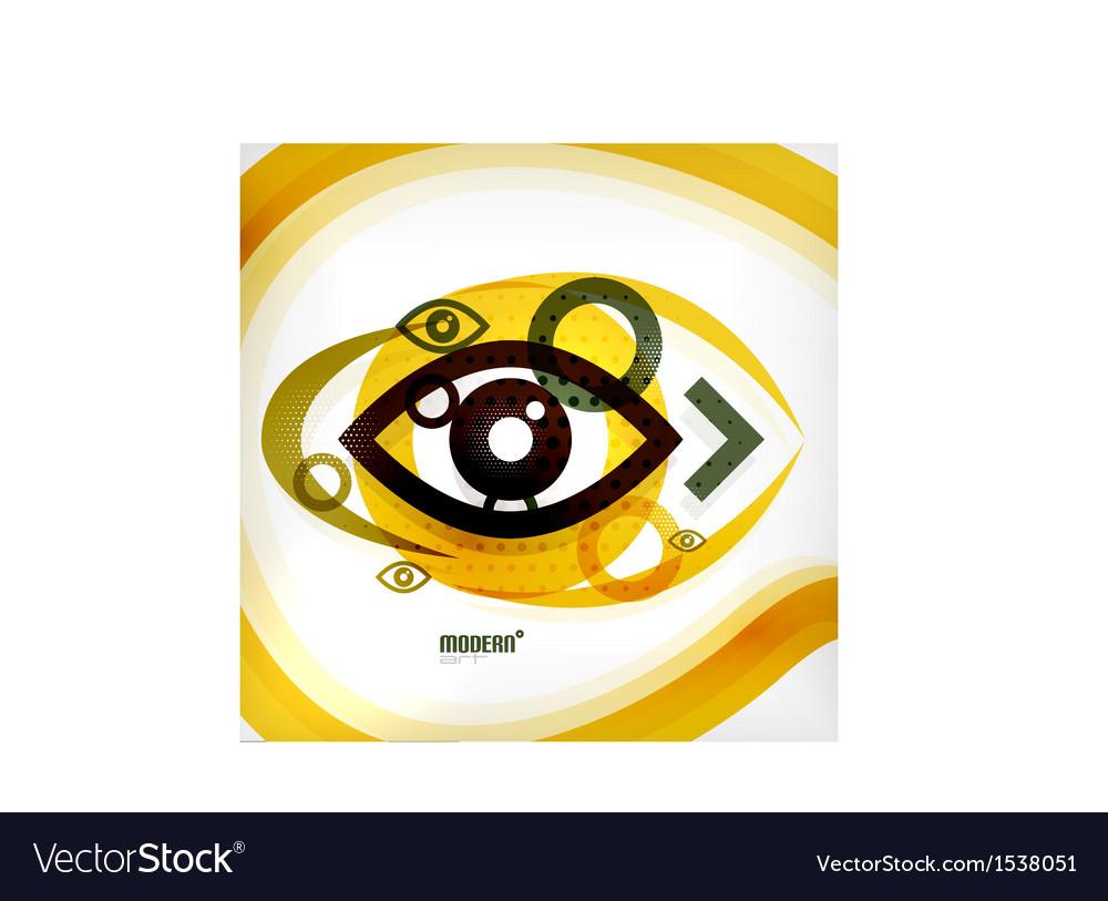 Abstract eye modern concept vector