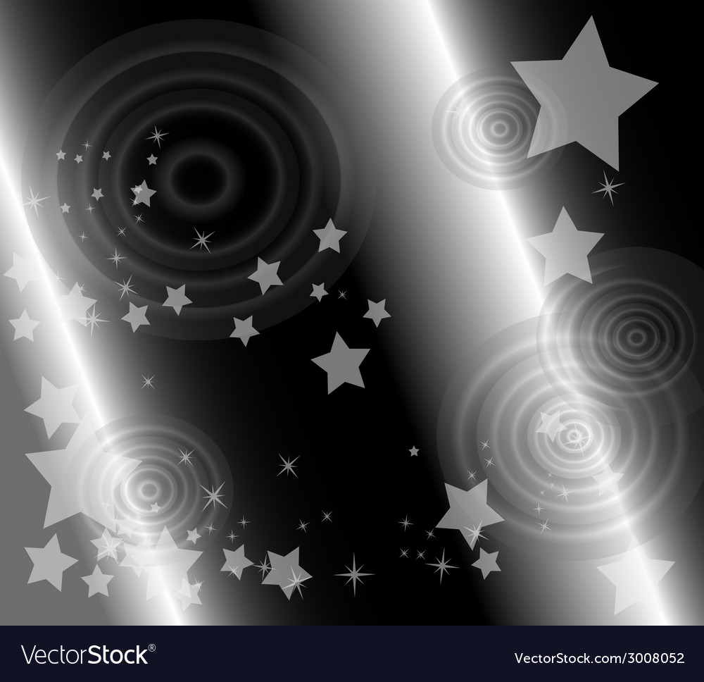 Star and circle black background design vector