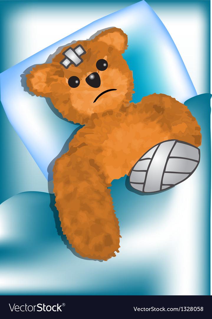 Bear fell ill vector