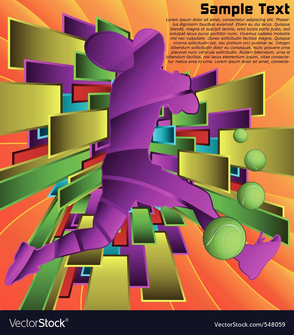 Abstract sport design series tennis player vector