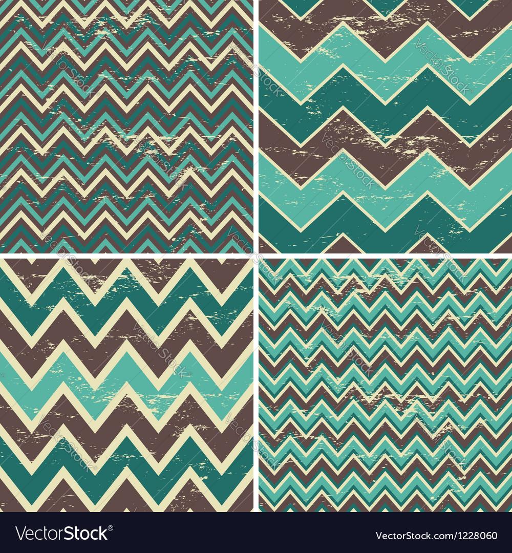 Chevron patterns set vector