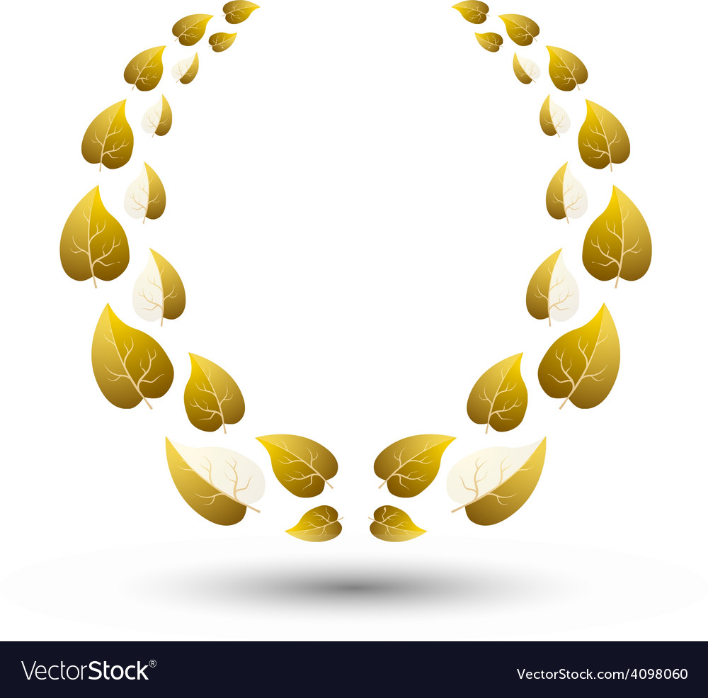 Golden laurel wreath for winner vector