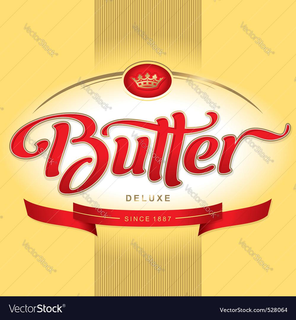 Butter packaging design vector