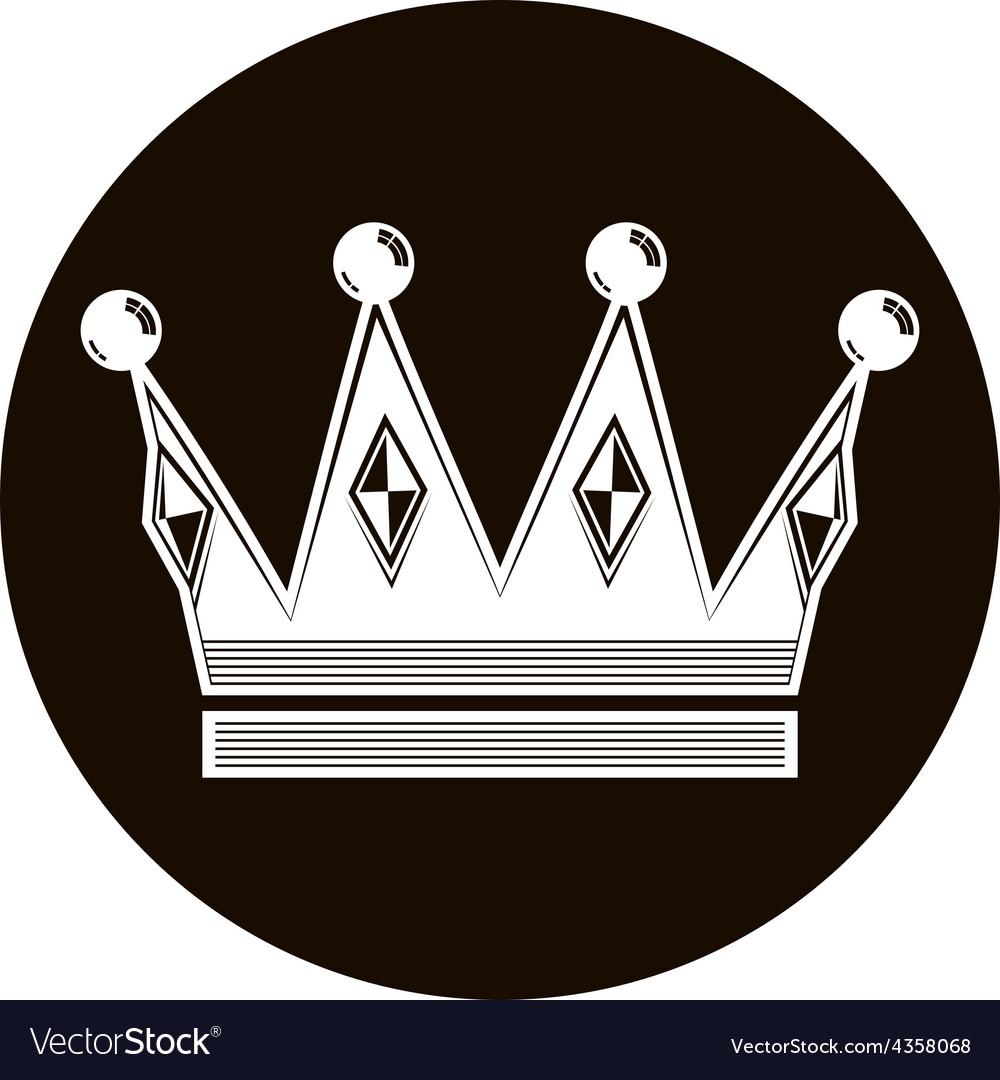 3d vintage crown luxury coronet classic imperial vector