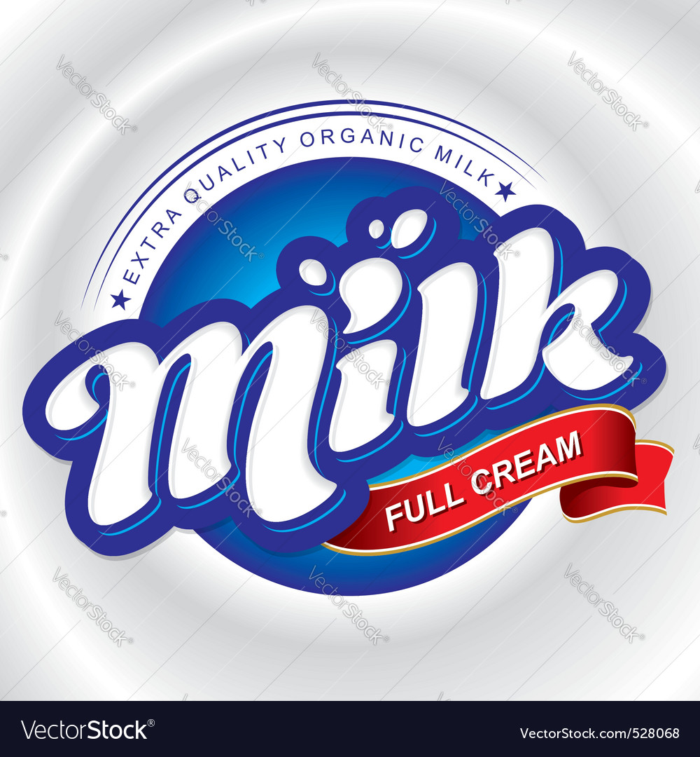 Milk packaging design vector