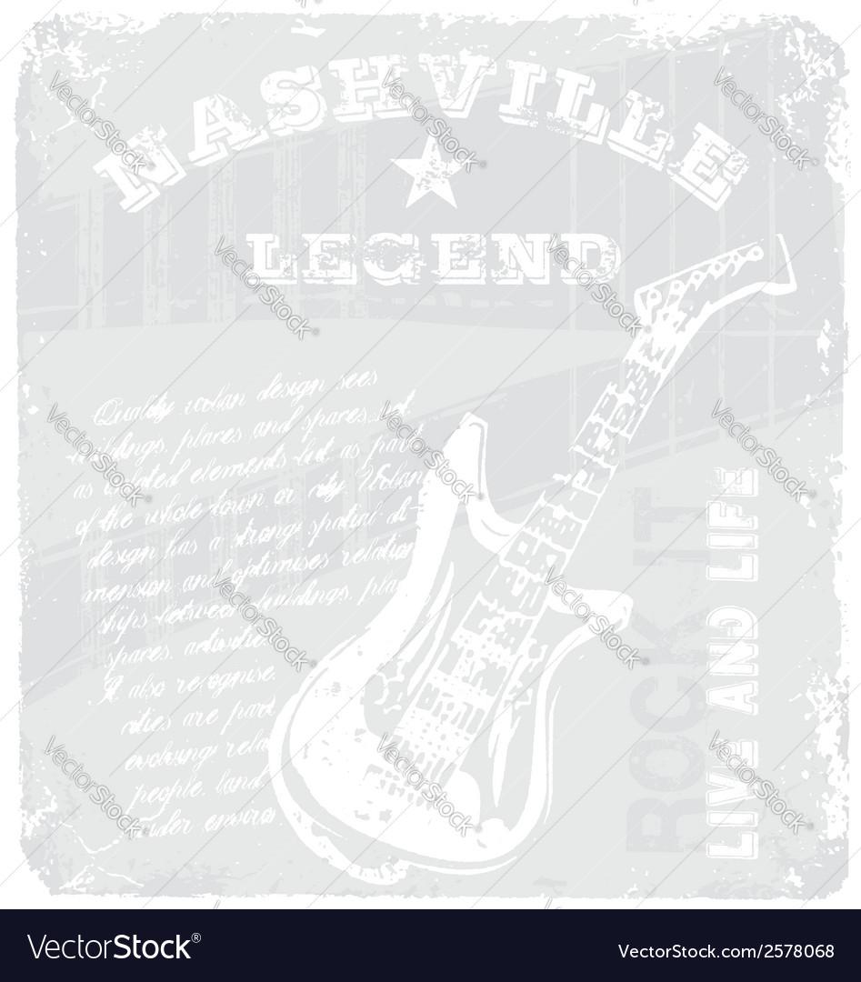 Rock music legend vector