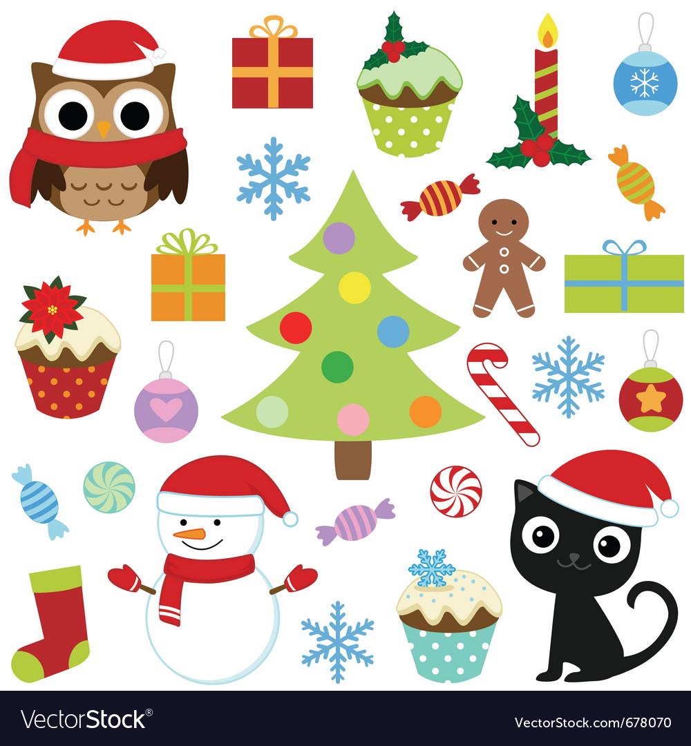 Christmas set 2 vector