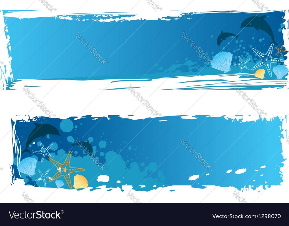 Sea banner vector