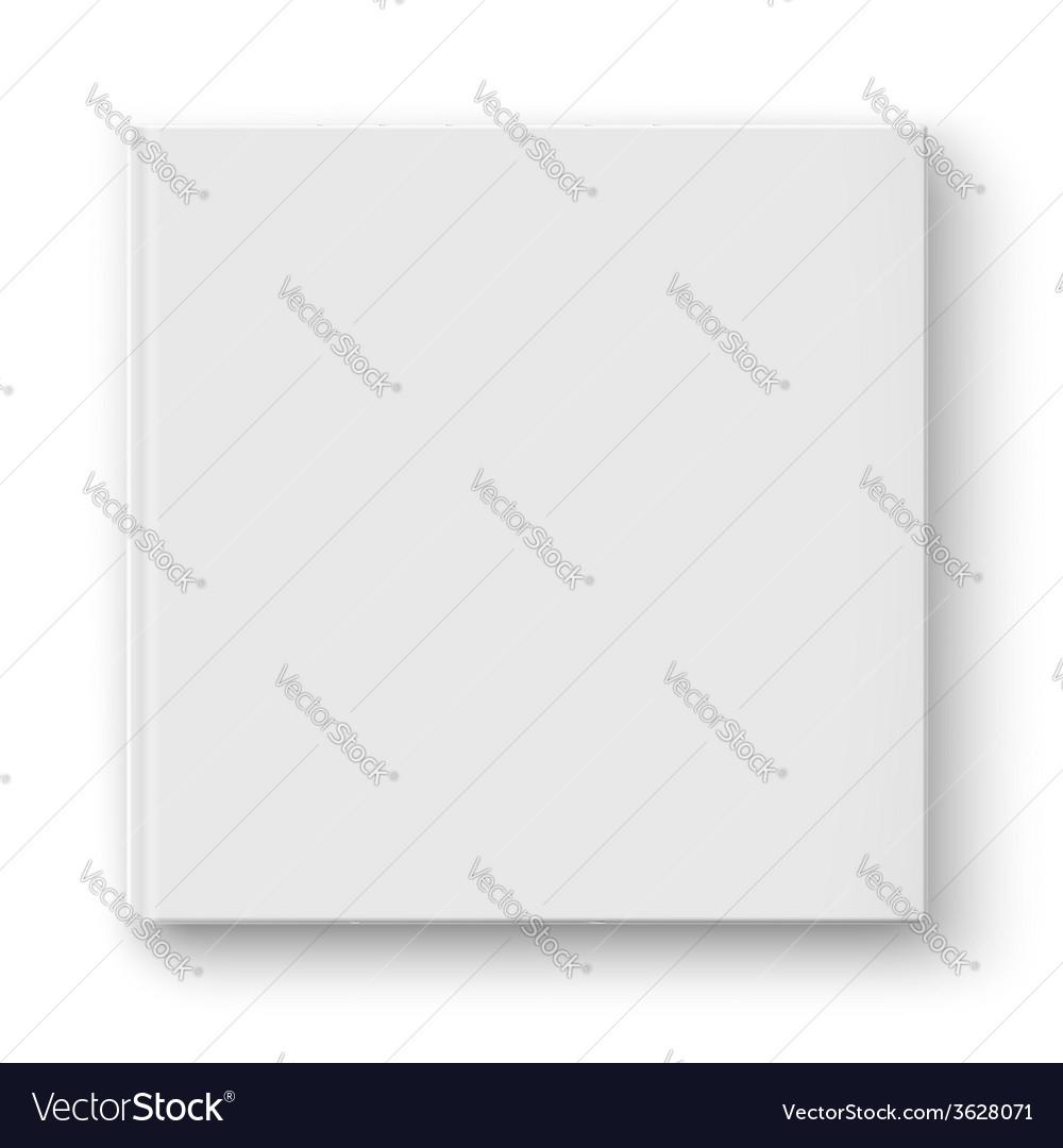 Blank square album template vector