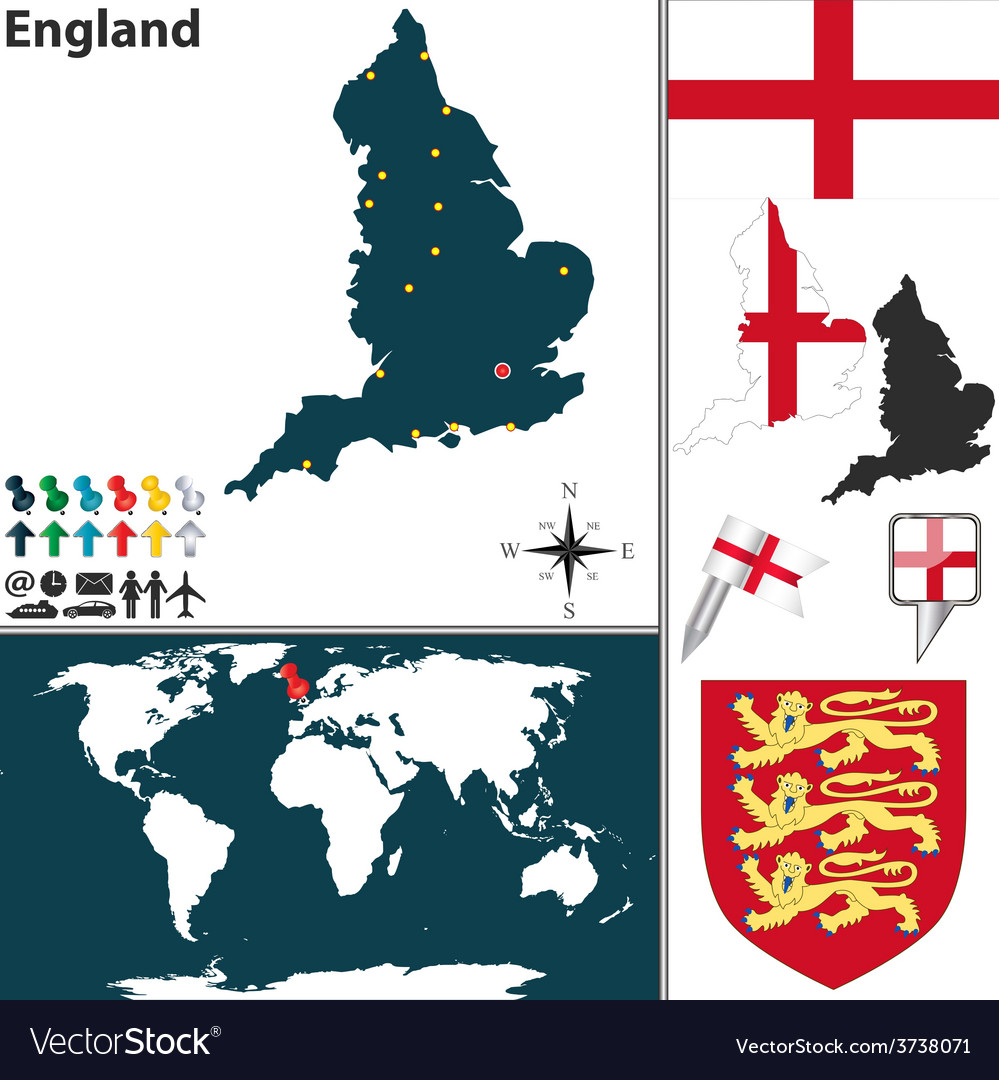 England map world vector