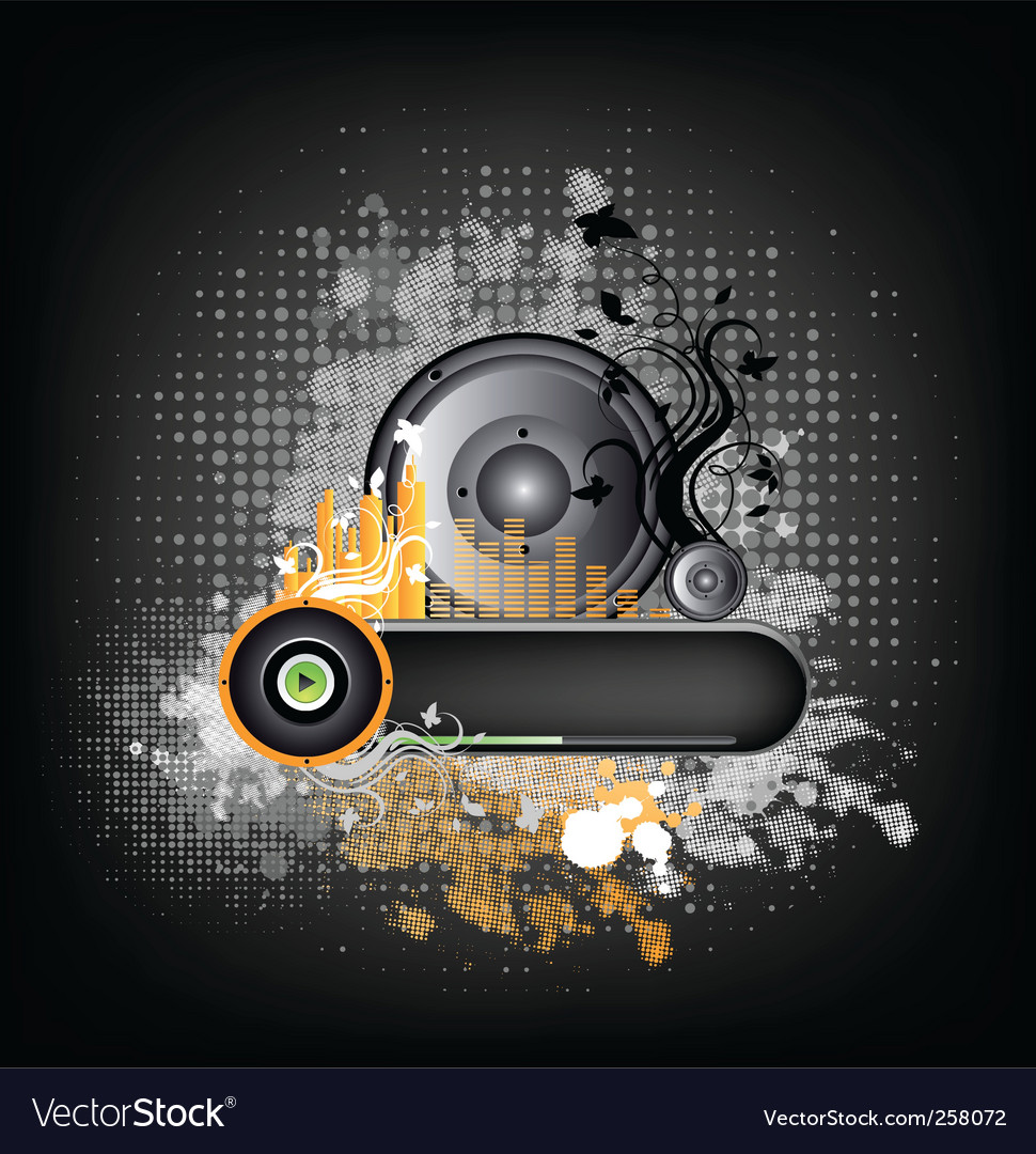 Music grunge background vector