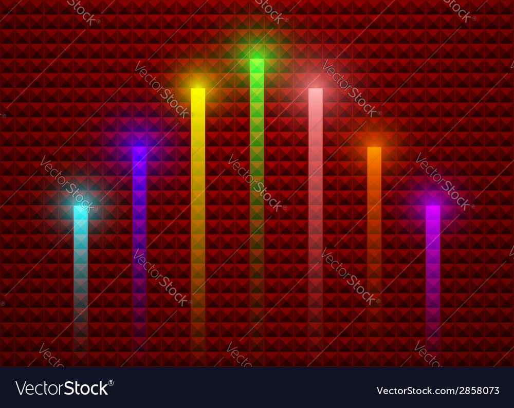 Lighting stick on abstract background vector
