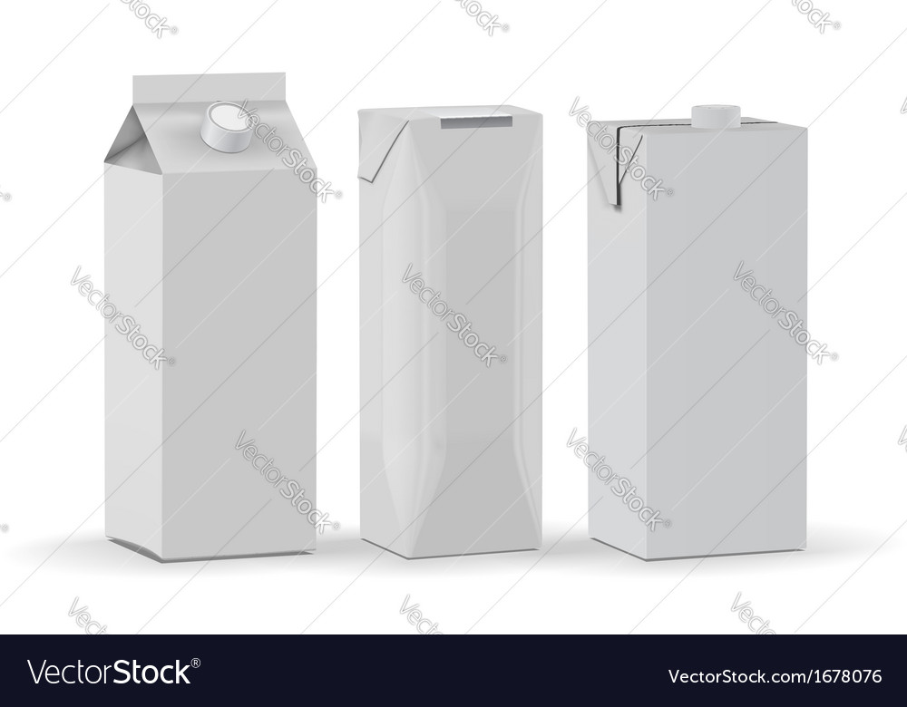 Carton packages isolated on white background vector