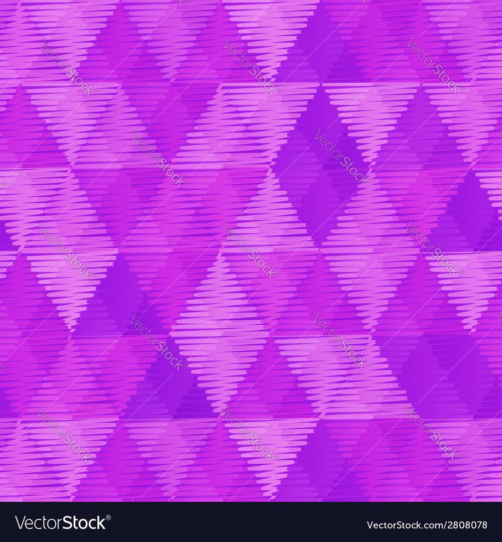 Purple retro textile triangles seamless pattern vector