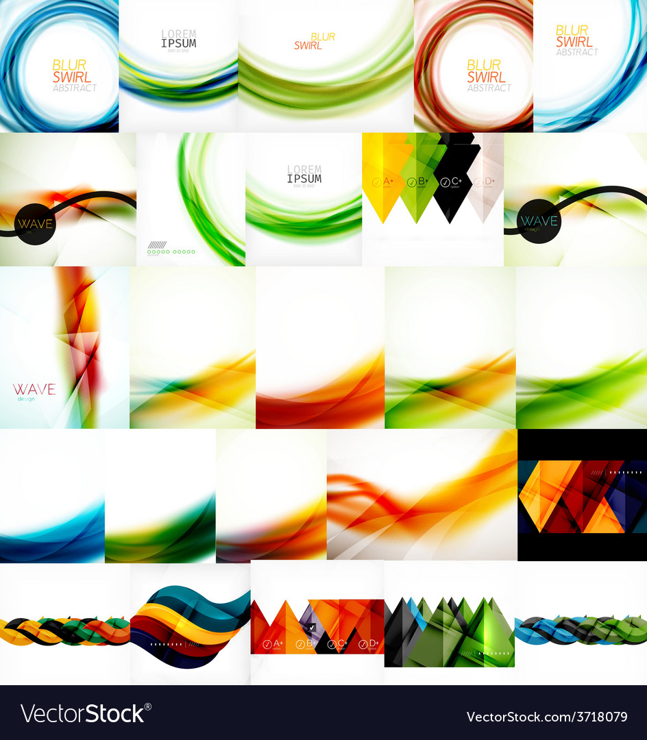 Set of wave layouts vector