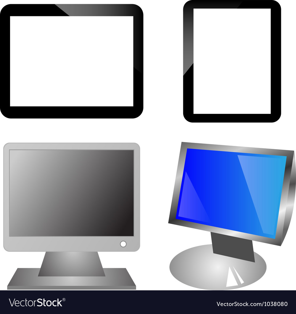 Monitors and ipad vector