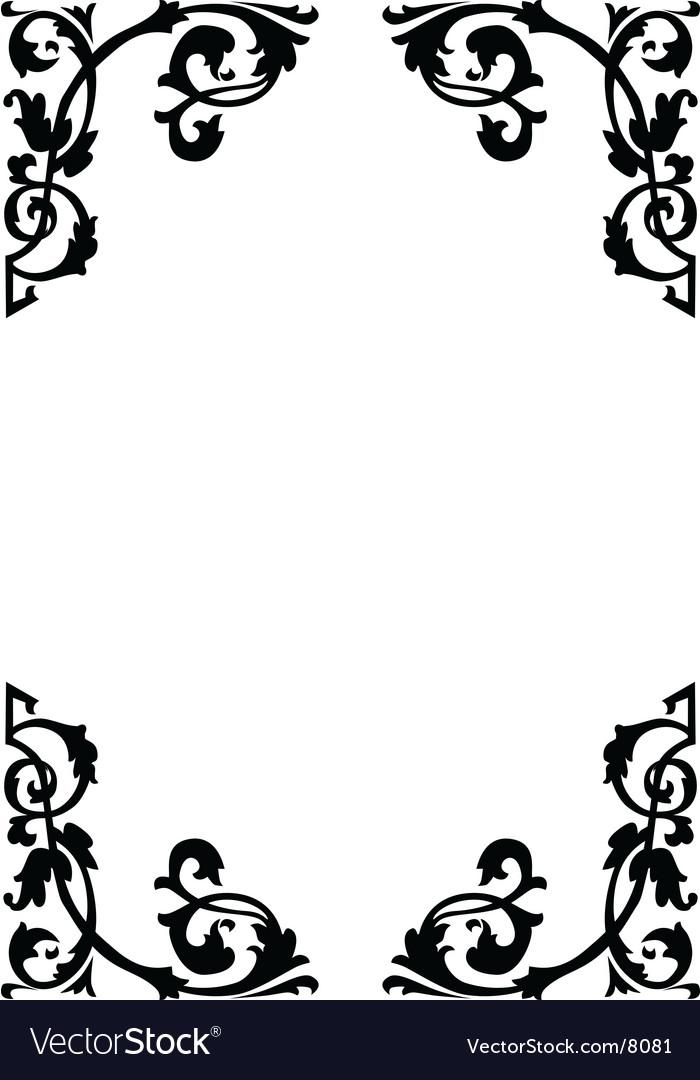 Victorian ornamental page borders vector