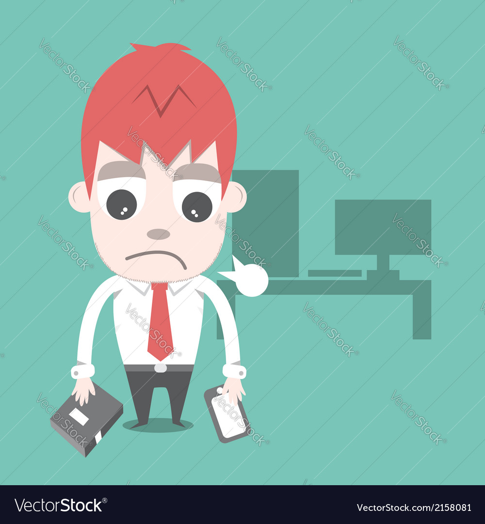 Work hard and overtime cartoon business vector