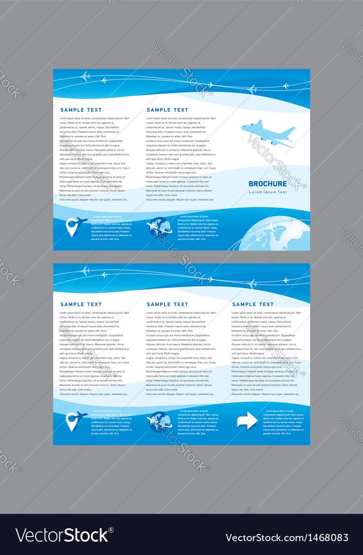 Brochure airplane takeoff fligh vector