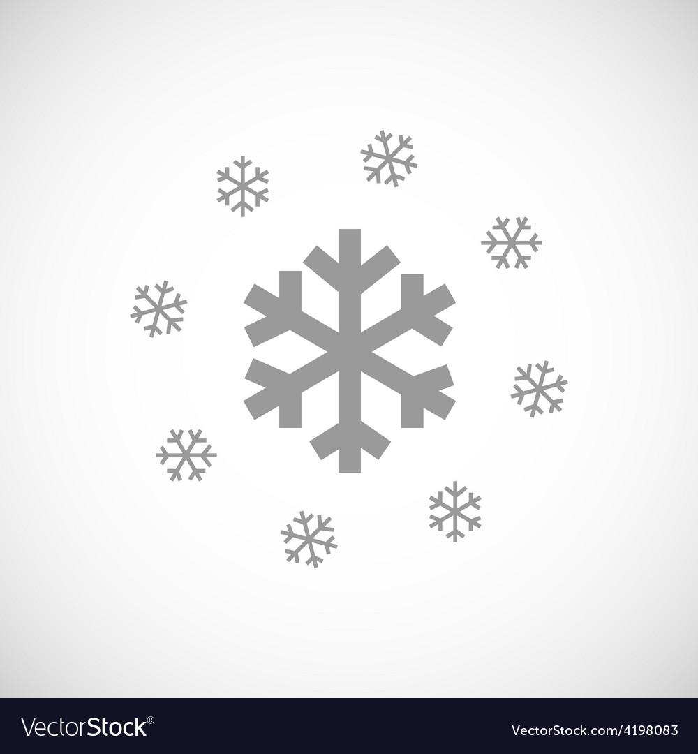 Snow black icon vector