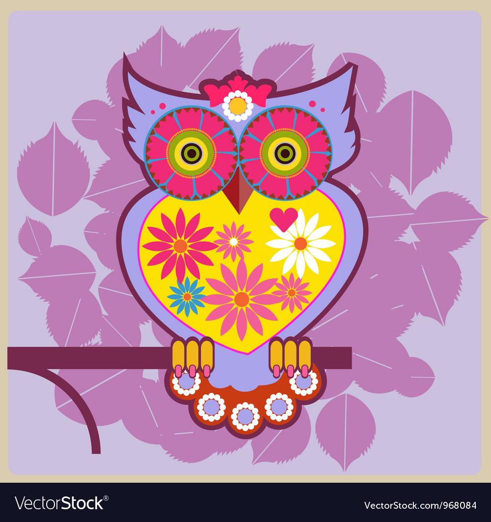Cartoon owl queen vector