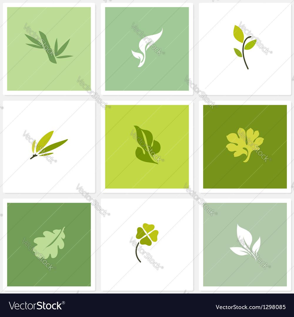 Leaf - set of posters design elements vector