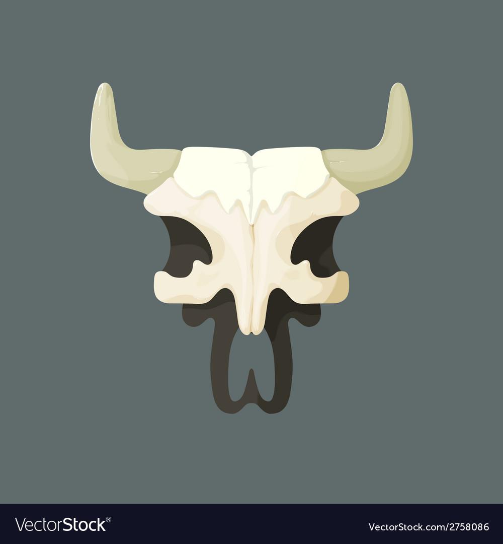 Bull skull from wild west vector