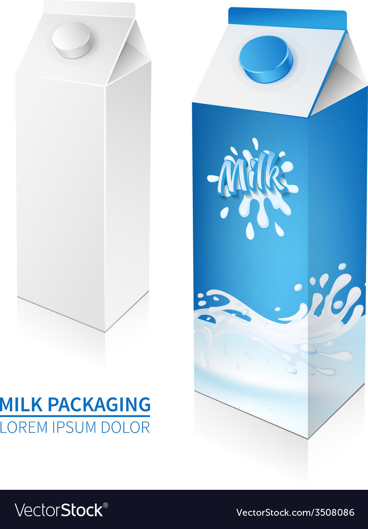 Package milk box vector
