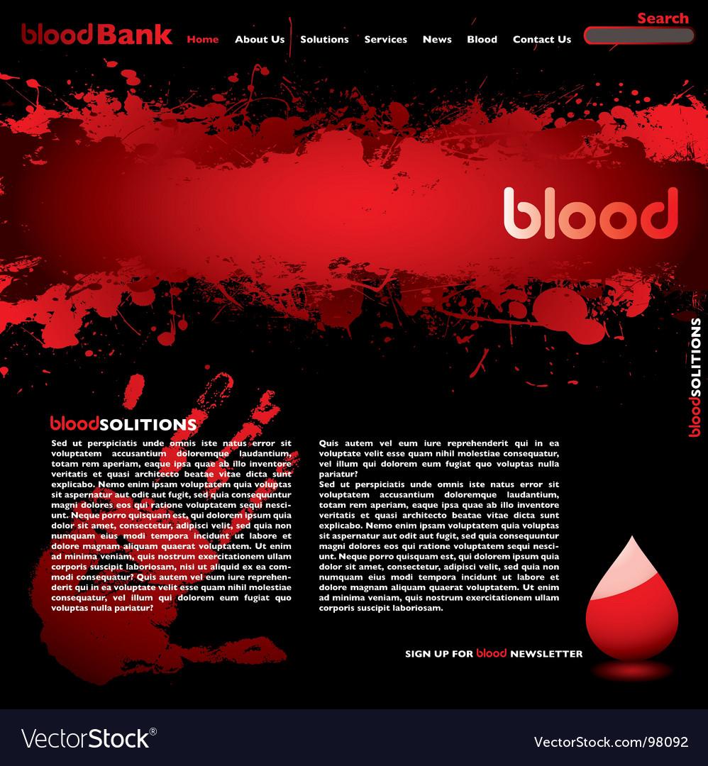Blood web vector