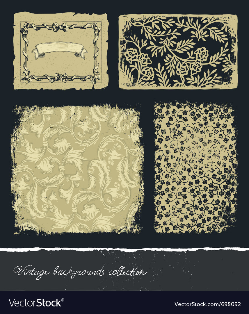 Vintage backgrounds collection vector