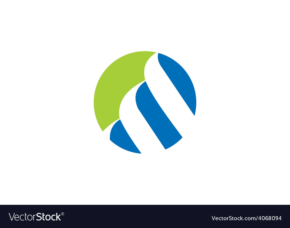 Finance round loop logo vector
