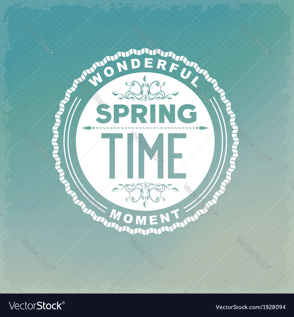 Spring retro label vector