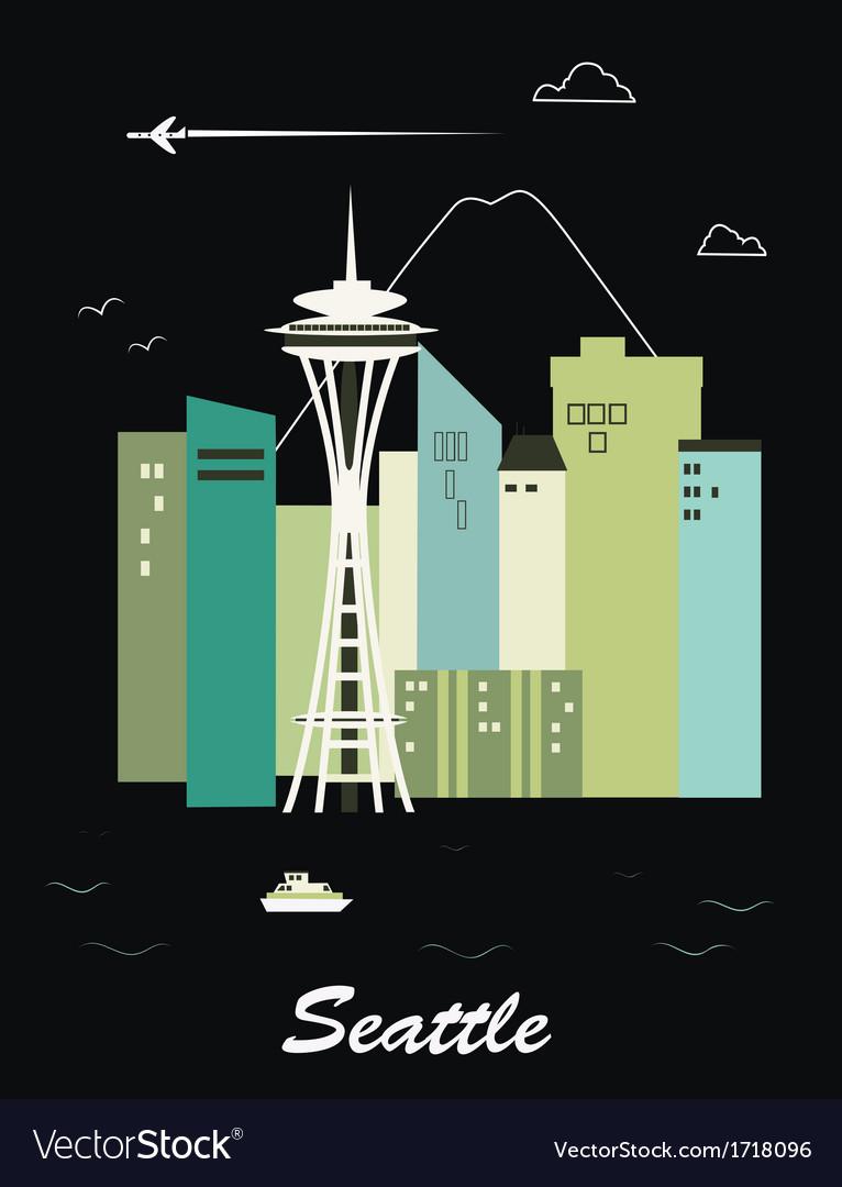 Seattle city vector