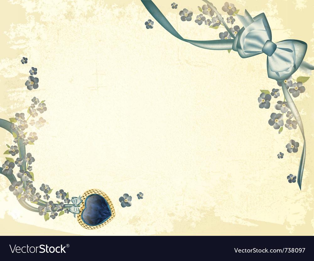 Valentines day vintage postcard vector