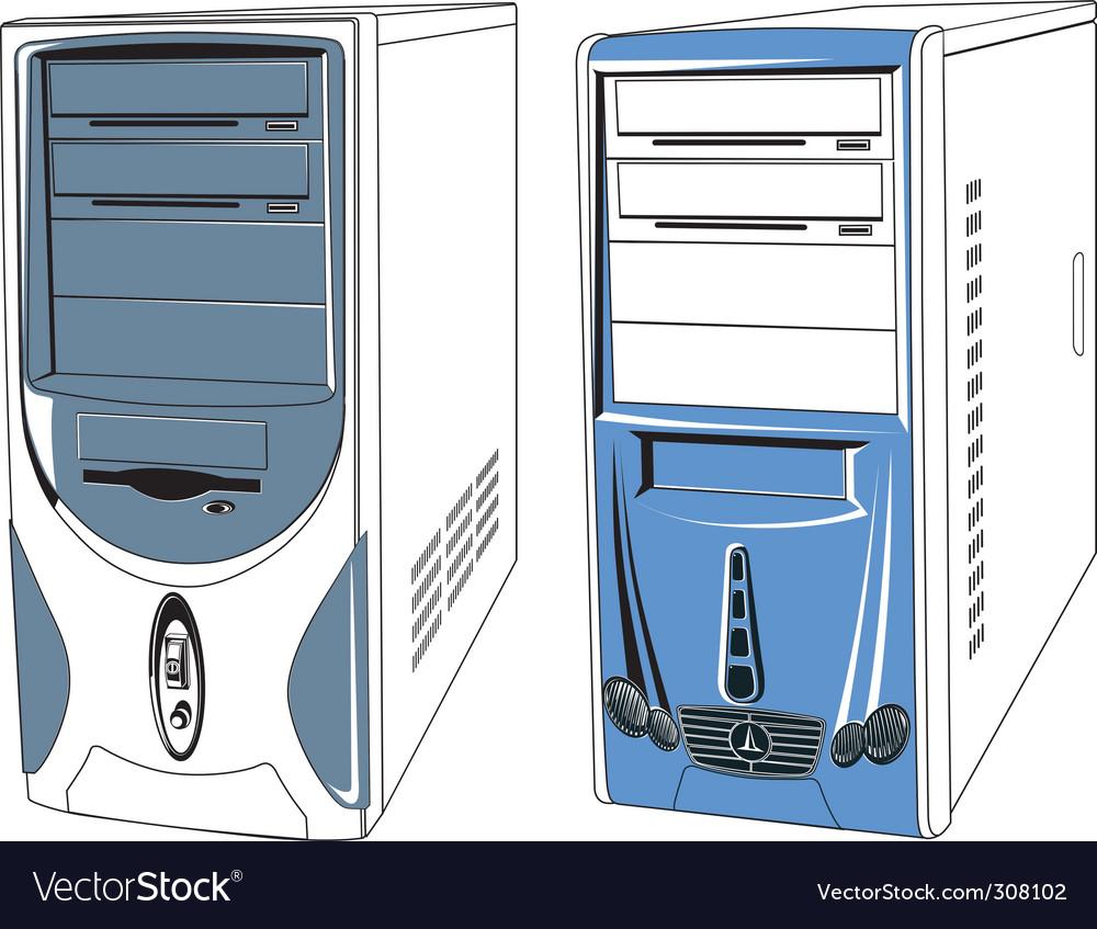 Computer cases vector