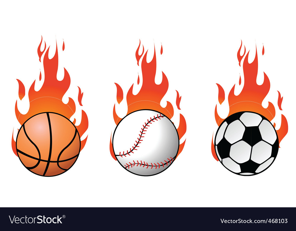 Flaming balls vector
