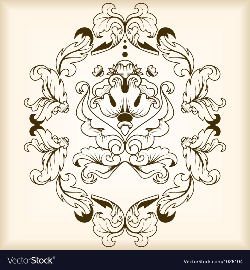 Calligraphic frame vector