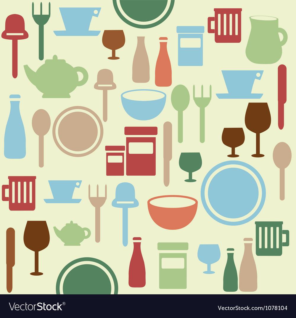 Dining pattern vector