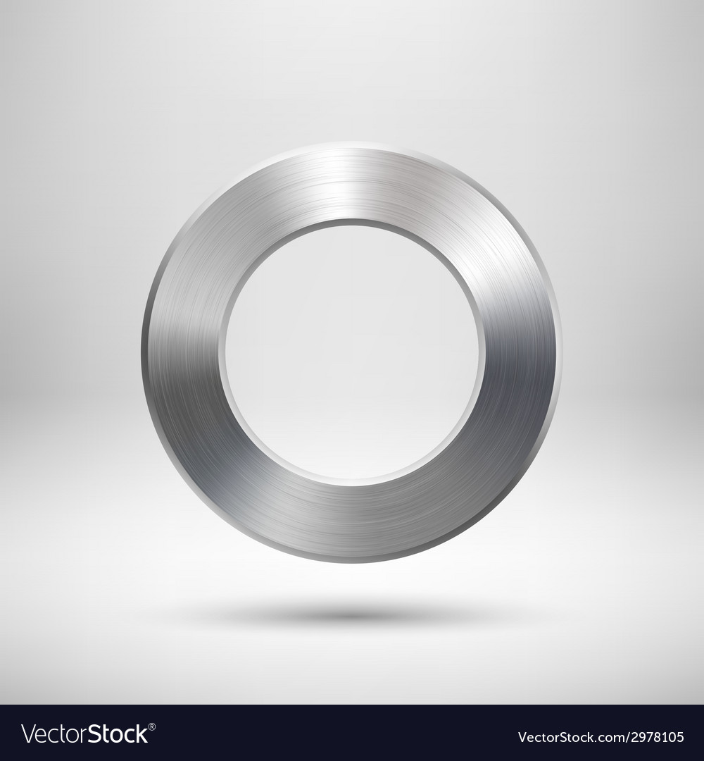 Abstract donut button template vector