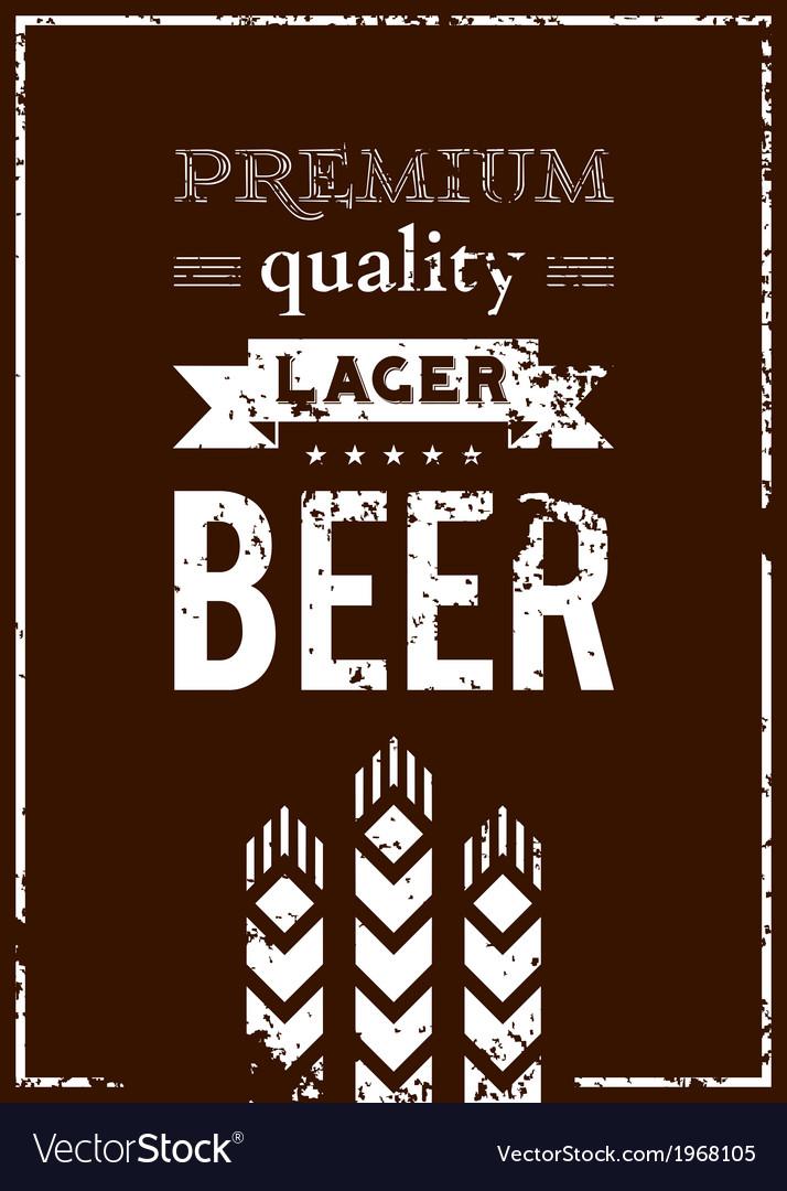 Design of beer label vector