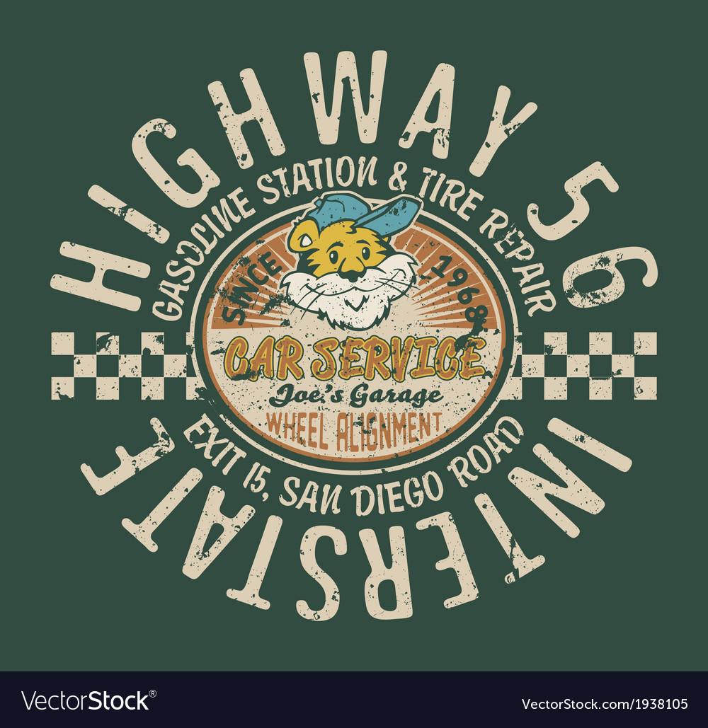 Highway service station vector