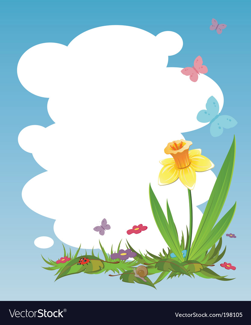 Nature frame vector