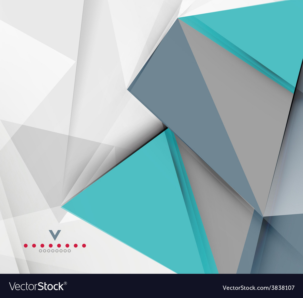 Triangular modern abstract background vector