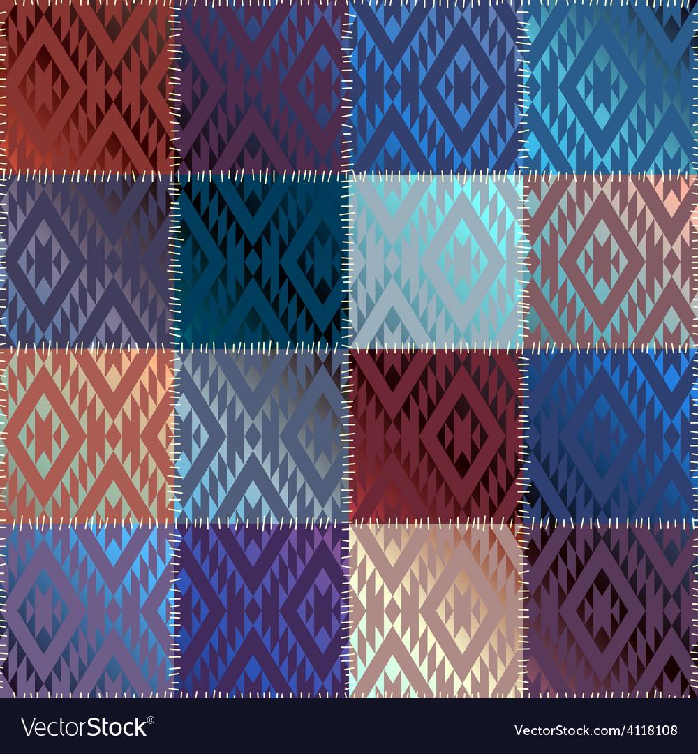 Satin patchwork vector