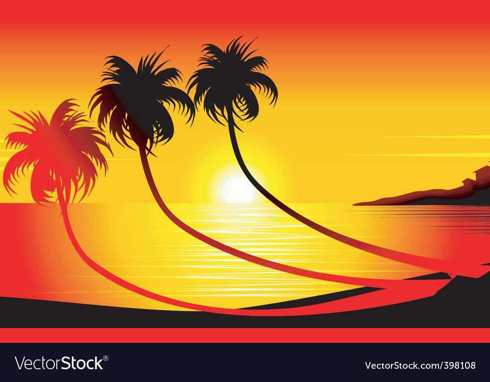 Sun set vector
