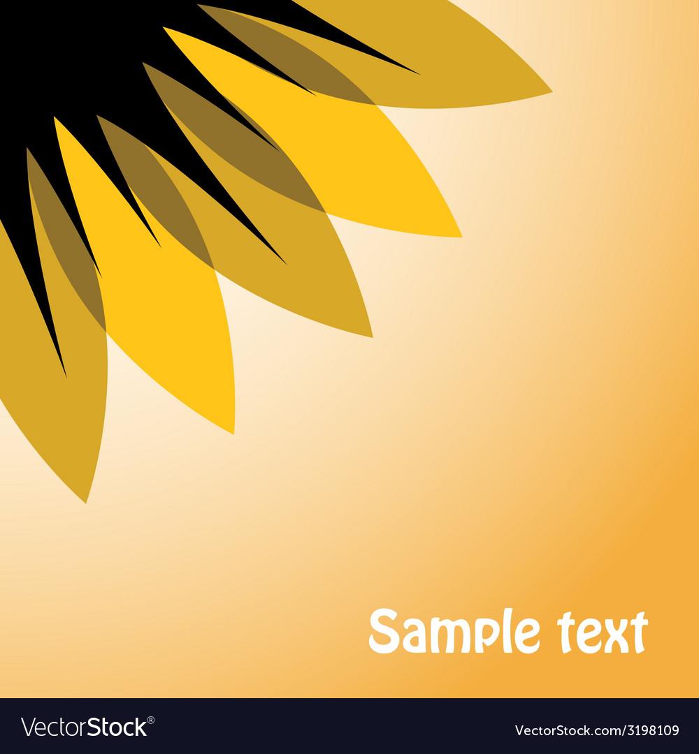 Abstract sunflower on sky vector