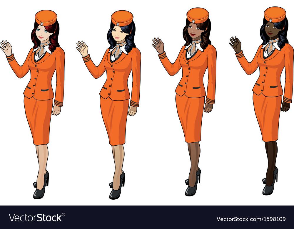 Air hostess 2 vector